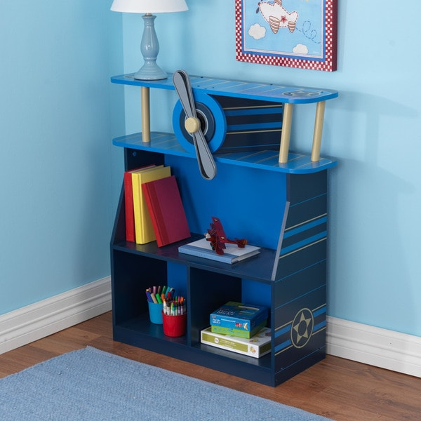 Overstock Toys For Boys : Shop kidkraft blue airplane bookcase free shipping today
