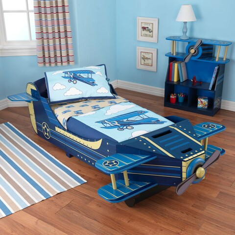KidKraft Airplane Blue Toddler Bed