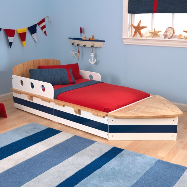 Shop Kidkraft Boat Toddler Bed Free Shipping Today