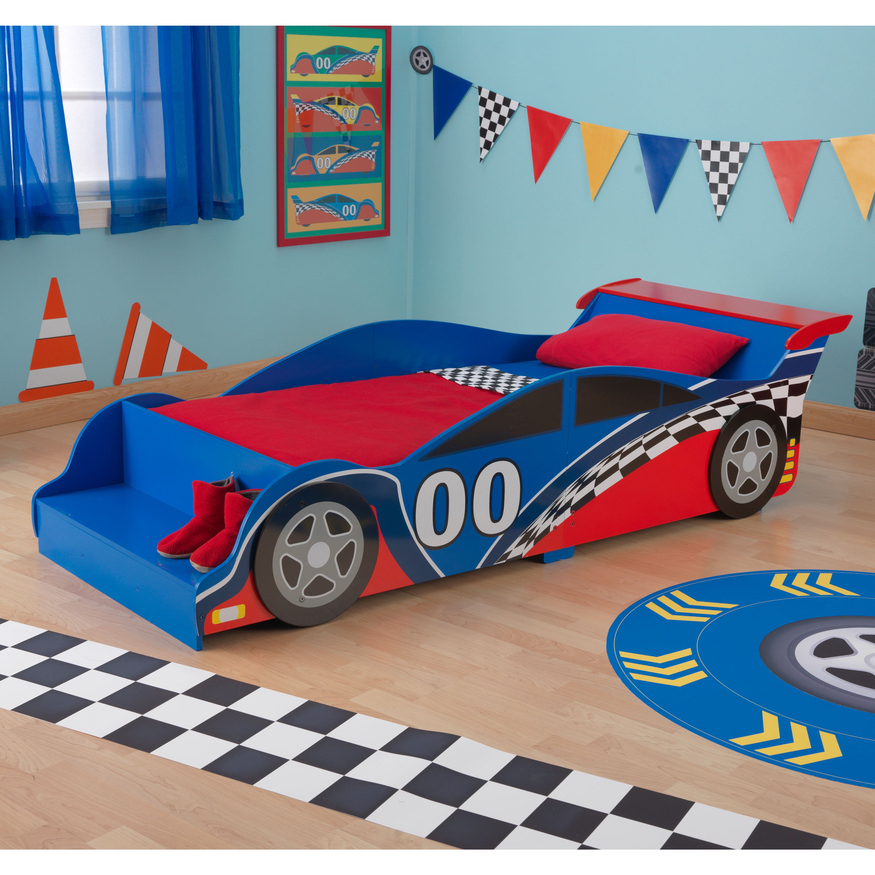 Picture of: Kidkraft Race Car Toddler Bed Overstock 9294768