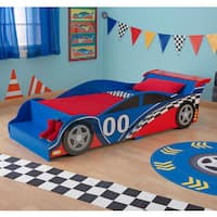 KidKraft Race Car Red and Blue MDF Toddler Bed