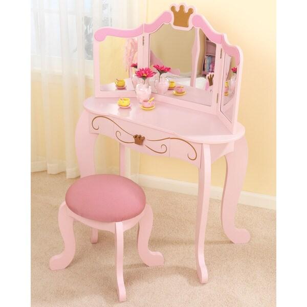 Shop Kidkraft Princess Vanity Table And Stool Free