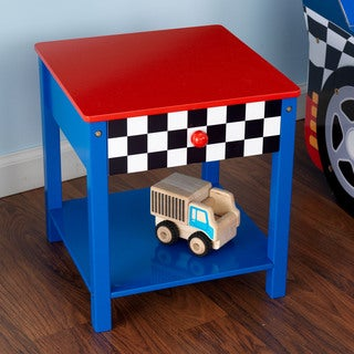 KidKraft Red and Blue Race Car Side Table