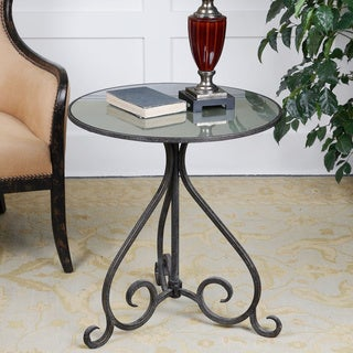Uttermost Poloa Aged Bronze Accent Table