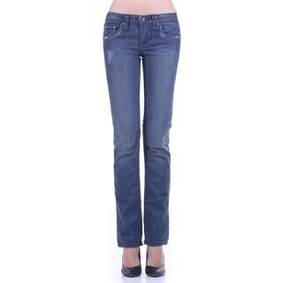 Stitch's Women's Slim Fit Straight Leg Blue Jean Pants