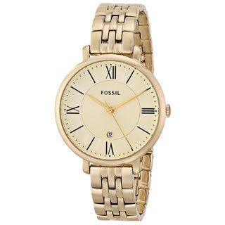 Fossil Women's Jacqueline ES3434 Goldtone Stainless Steel Watch