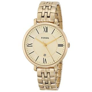 Fossil Women's Jacqueline ES3434 Goldtone Stainless Steel Watch|https://ak1.ostkcdn.com/images/products/9295682/P16457668.jpg?impolicy=medium