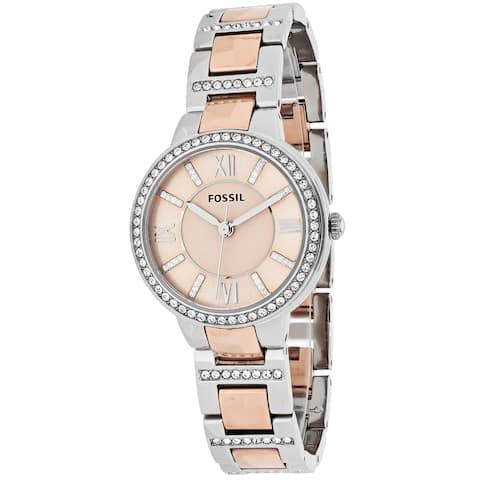 Fossil Women's Virginia ES3405 Two-tone Stainless Steel Quartz Watch