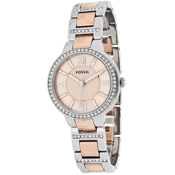 63efedeab8f5e Fossil Women  x27 s Virginia ES3405 Two-tone Stainless Steel Quartz Watch