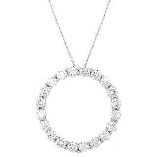 SummerRose 14k White Gold 3 3/4ct TDW Diamond Circle Necklace