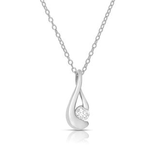 Eloquence Sterling Silver 1/4ct TDW Diamond Necklace (H-I, I2-I3)
