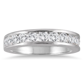 Marquee Jewels 10k White Gold 1ct TDW Channel-set Round-cut White Diamond Ring (3 options available)