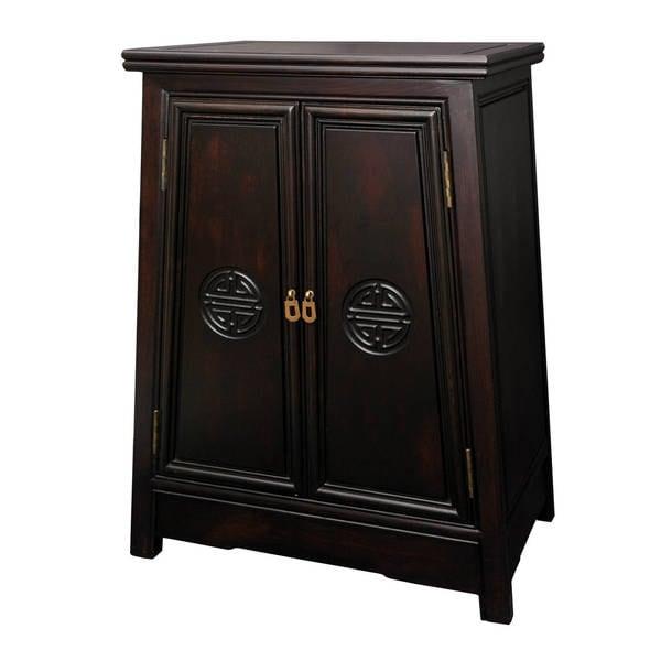Perfect Handmade Merbu Wood U0026#x27;Long Lifeu0026#x27; Oriental Cabinet ...