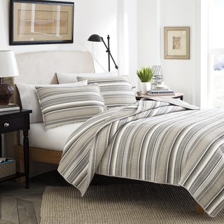 Stone Cottage Fresno Neutral Stripe Cotton 3-piece Quilt Set