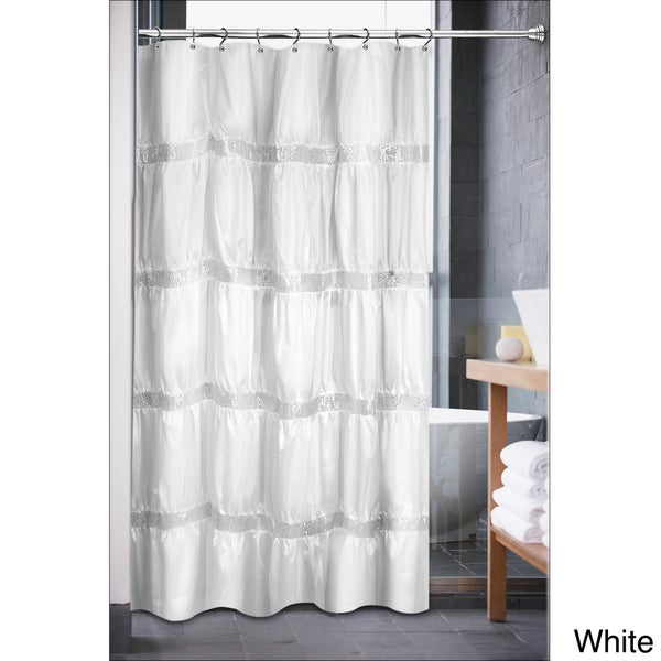Luxurious Rhinestone Shower Curtain - 16459057 - Overstock.com ...