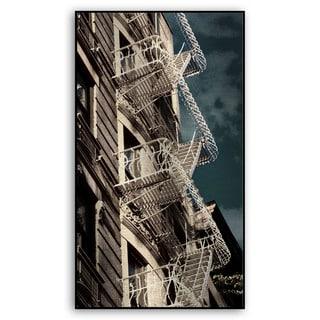Gallery Direct Miriam Danar's 'Fire Escapes in White' Metal Art