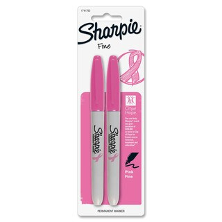 Sharpie Pink Ribbon Fine Tip Pink Permanent Markers (Pack of 2)