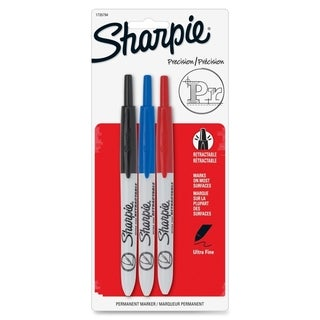 Sharpie Retractable Ultra Fine Tip Permanent Markers (Pack of 3)