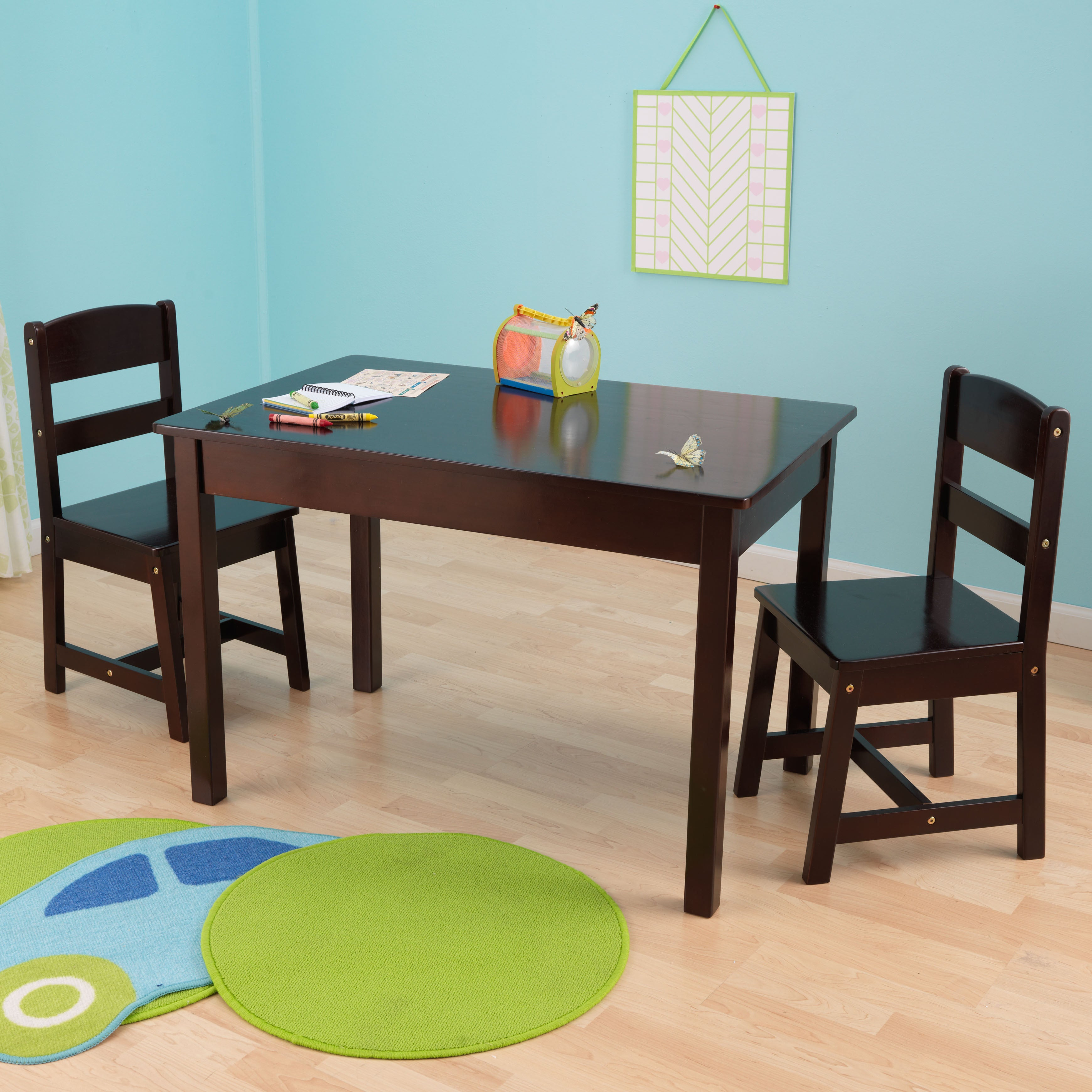 Kid Kraft 3-piece Rectangle Table and Chair Set (Espresso...