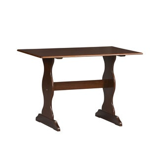 Linon Riki Family Dining Table Dark Brown