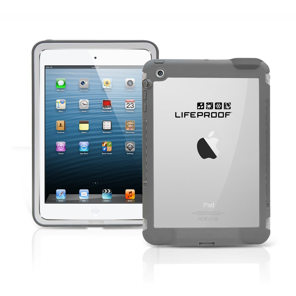 LifeProof Plastic White/Grey Waterproof Shockproof Tablet Case for Apple iPad mini