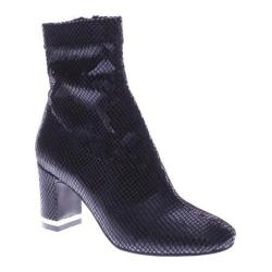 Women's Azura Splatter Ankle Boot Black Python Lycra