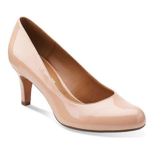 5d76b9c39 Shop Women s Clarks Arista Abe Pump Nude Patent Leather - Free Shipping  Today - Overstock - 10578875