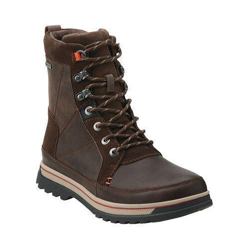 b5e066efad9 Clarks Men's Boots Ripway Peak GORE-TEX Brown Leather
