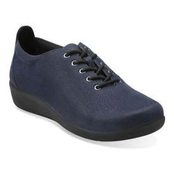 Women's Clarks Sillian Tino Oxford Navy Synthetic Nubuck