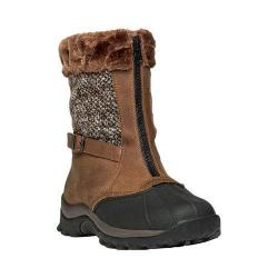 Women's Propet Blizzard Mid Zip Boot Brown/Brown Knit Leather