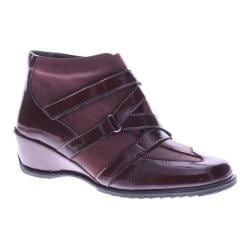 Women's Spring Step Allegra Wedge Bootie Bordeaux Patent Leather