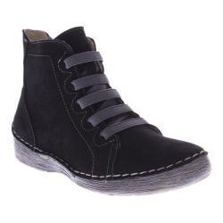 Women's Spring Step Bamtastic Bootie Black Nubuck Leather