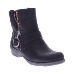 Women's Spring Step Chickadee Ankle Boot Black Nubuck Leather
