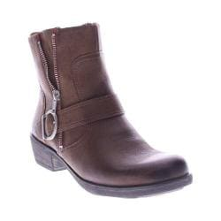 Women's Spring Step Chickadee Ankle Boot Medium Brown Leather