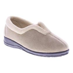 Women's Spring Step Cindy Slipper Beige Micro Suede