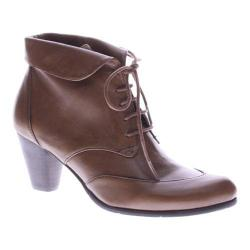 Women's Spring Step Conquer Bootie Medium Brown Leather