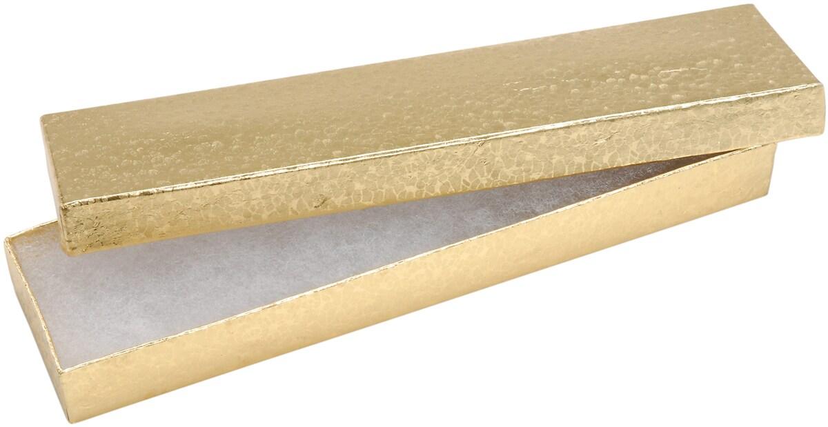 Jewelry Boxes 8inX2.125inX.875in 6/PkgGold
