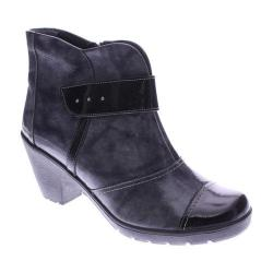 Women's Spring Step Manifest Bootie Gray Patent Leather