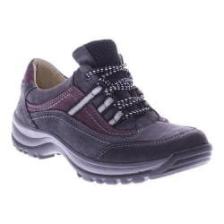Women's Spring Step Nordeste Lace Up Charcoal Nubuck Leather