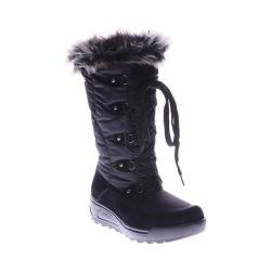 Women's Spring Step Northridge Snow Boot Black Nylon