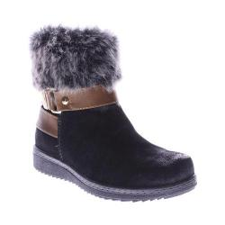 Women's Spring Step Popsicle Ankle Boot Black Suede