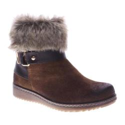 Women's Spring Step Popsicle Ankle Boot Brown Suede