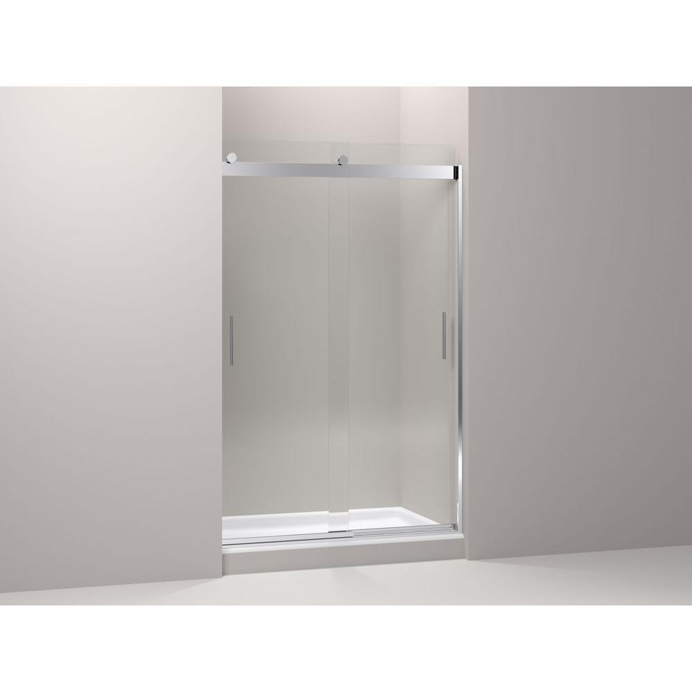 Kohler Levity Rear Sliding Glass Panel and Assembly Kit in Bright Polished Silver