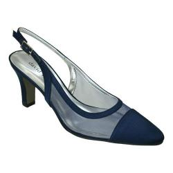 Women's David Tate Vegas Navy Satin Mesh