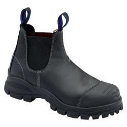 Men's Blundstone Xfoot™ Rubber Range Slip On Boot Black Leather