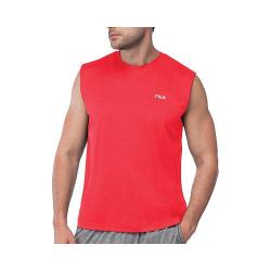 Men's Fila Performance Heather Sleeveless Tank Chinese Red Heather