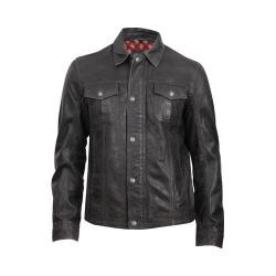 Men's Durango Boot Cow Puncher Jacket Black Leather