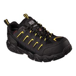 Men's Skechers Work Blais Steel Toe Lace Up Black/Yellow