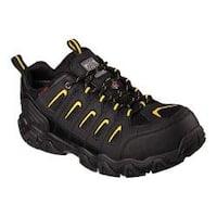 Men's Skechers Work Blais Steel Toe Lace Up Black/Yellow