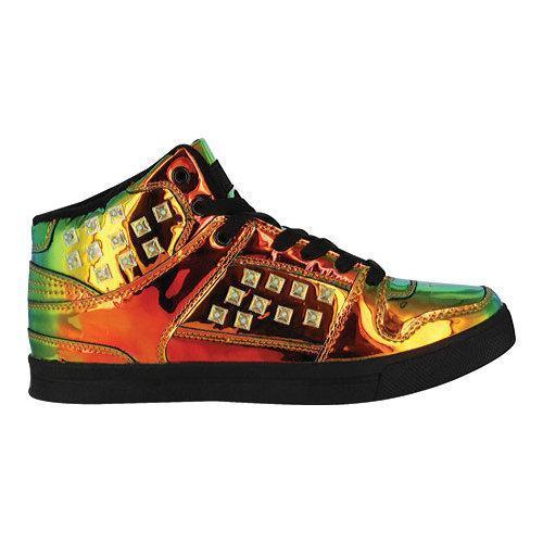 Women's Gotta Flurt Hip Hop HD III Sneaker Gasoline/Black Metallic Patent Pu - Thumbnail 1